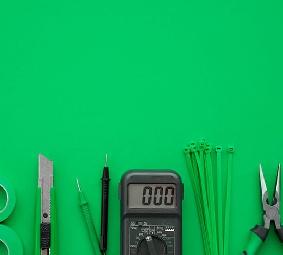Ttools against green background